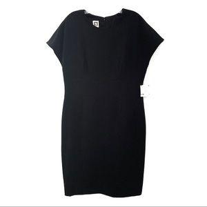 NWT Anne Klein little black dress LBD, sz. 12